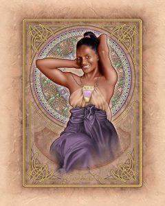 Asha Miro ( Alphonse Mucha Style ) - Digital Portrait