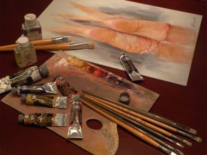 Commissioned Traditional Oil Paintings - Tools