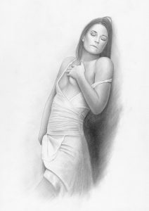 Erotic Pencil Drawing On Canson Paper