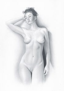 Erotic Pencil Nude On Canson Paper