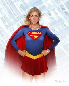 Helen Slater as Supergirl - Digital art