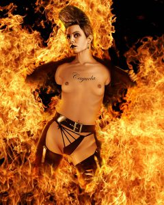 Lisbeth Salander Nude ( Noomi Rapace ) - Digital Portrait