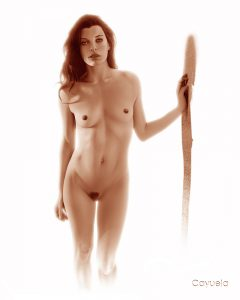 Milla Jovovich Nude - Digital Illustration