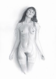 Nude Pencil Drawing On Fabriano Paper