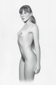 Nude Portrait - Pencil Drawing On Canson Paper