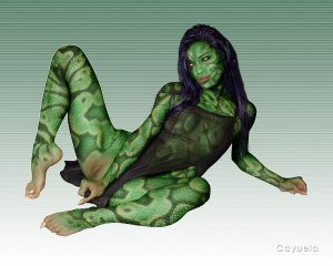 Sexy Reptile Girl - Digital Image