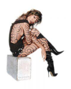 Milla Jovovich Tattoo - Digital Illustration