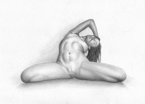 Small Porn Pencil Drawing On Heavyweight Paper