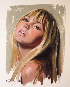 Study Of A Girl - Oil Portrait - 33 x 41 cm
