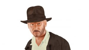 Indiana Jones ( Harrison Ford ) - Digital Illustration ( Stage 4 )