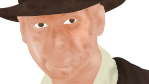 Indiana Jones Portrait - Stage 1 - Close Up