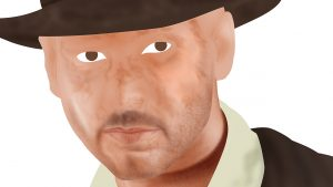 Indiana Jones Portrait - Stage 2 - Close Up
