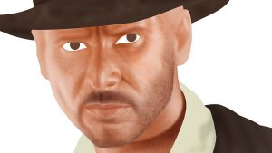Indiana Jones Portrait - Stage 3 - Close Up