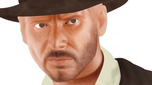 Indiana Jones Portrait - Stage 4 - Close Up