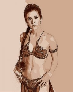 Princess Leia ( Carrie Fisher ) - Digital Illustration - Project
