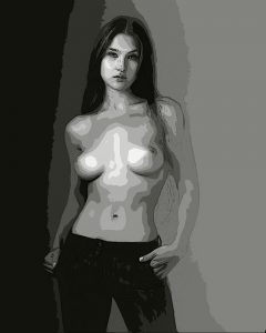 Topless Girl - Digital Portrait - Project
