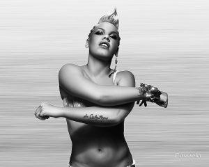 Singer Alecia Moore ( Pink ) - Digital Portrait