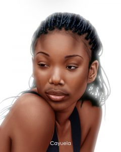 brandy norwood digital portrait