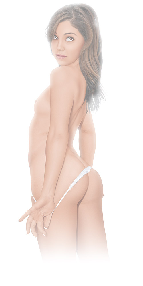 digital pinup portrait