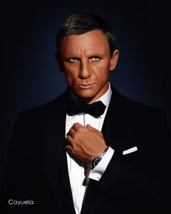 james bond daniel craig digital portrait