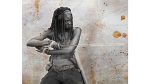 michonne sexy painting by Daniel Cayuela