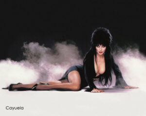 Cassandra Peterson as Elvira posing sexy - Digital porn drawing