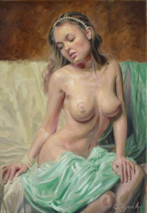 erotic oil painting by Angel Cayuela