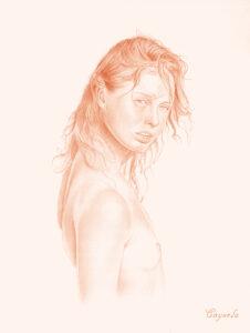 Lovely girl naked - Hard porn drawing