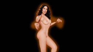 Salma Hayek porn drawing
