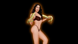 Salma Hayek completely nude hard porn drawing