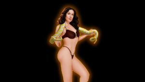 Salma Hayek completely nude with big snake hard porn dwaing