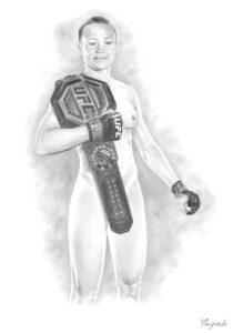 UFC fighter Rose Namajunas nude - Porn drawing